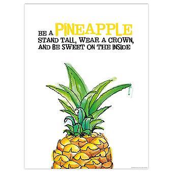Pineapple art print Janette small format