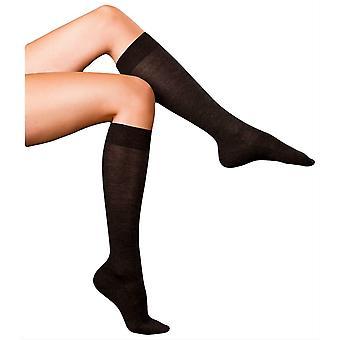 Falke Finest No3 Merino and Silk Knee High Socks - Anthracite Melange
