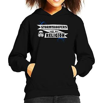 Original Stormtrooper Troopers Are My Religion Kid's Hooded Sweatshirt