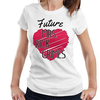 Walking Dead Future Mrs Rick Grimes Love Heart Women's T-Shirt