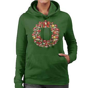 Kerst krans Multi Super Mario vrouw Hooded Sweatshirt