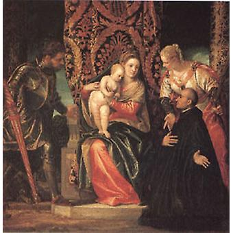 The Virgin and Child with Saints Justin and Ge, VERONESE Paolo Caliari