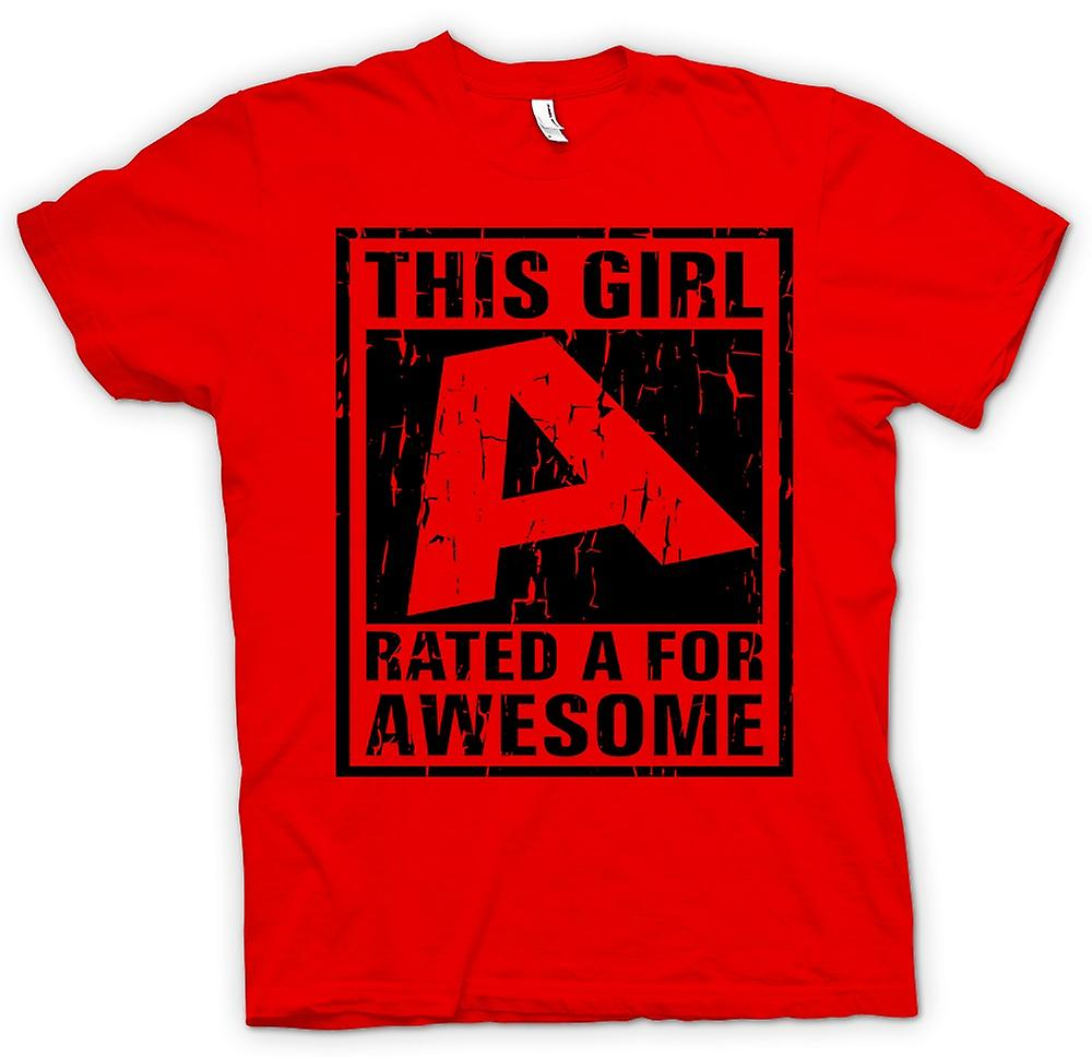 Mens T-shirt - This Girl Rated A For Awesome