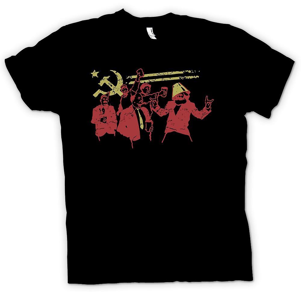 Womens T-shirt - kommunismen - Marx Lenin Stalin - Ryssland