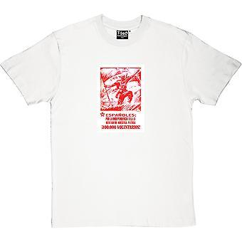 T-shirt Espanoles Por La Independencia Y La Libertad De Nuestre Patria masculino