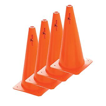 Precision Safety Football Rugby Training Traffic Marker Cones 15'' (Set of 4)