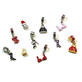 Toc Beadz Funky Girls Fashion Slide-On Beads, Bargain Pack of 10