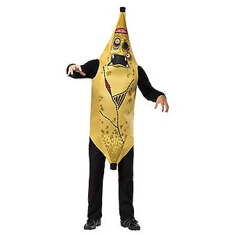 Mens Zombie Banana Halloween Novelty Food Monster Fancy Dress Costume