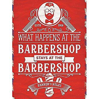 What Happens at the Barbershop Stays at the Barbershop 90mm x 65mm fridge magnet  (og)