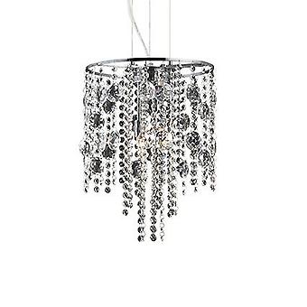 Ideal Lux - Evasione Chrome And Crystal Four Light Pendant IDL062211