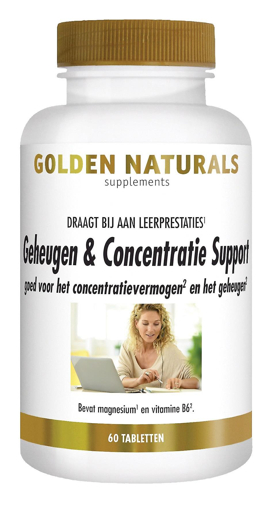 Golden Naturals Memory Support (60 vegetarian capsules) & Concentration