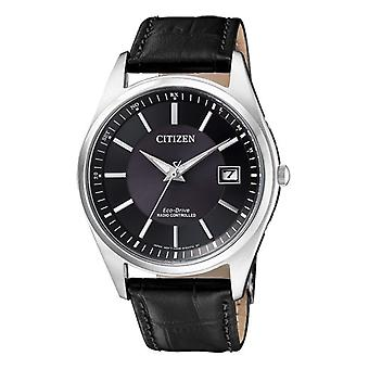Citizen Solar Analog Man with a leather strap AS2050-10E