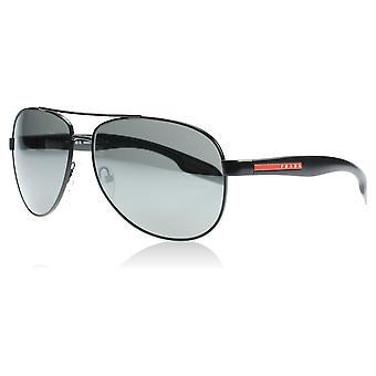 Prada Sport PS53PS 1B07W1 Black Benbow Pilot Sunglasses Lens Category 3 Lens Mirrored Size 62mm