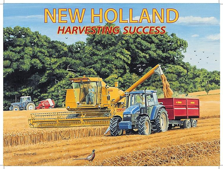 New Holland Harvesting large metal sign  (og 2015 sm)