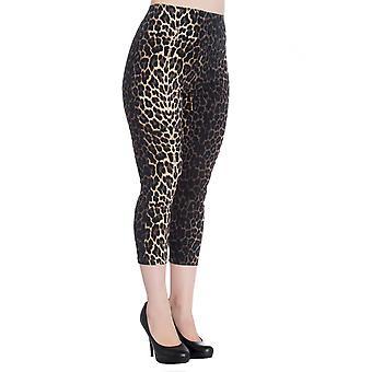 Hell Bunny Panthera Capri Trousers S