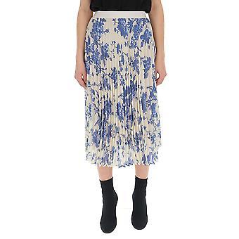 Semi-couture Light Blue/white Polyester Skirt