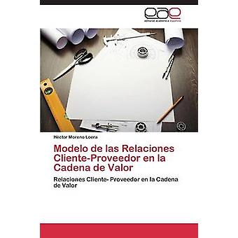 Modelo de Las Relaciones ClienteProveedor En La Cadena de Valor von Moreno Loers Hctor