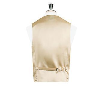 Dobell Boys Gold Dupion Waistcoat Regular Fit