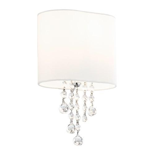 Searchlight 1051-1CC Nina 1 Arm Switched Modern Wall Light With White Oval Shade