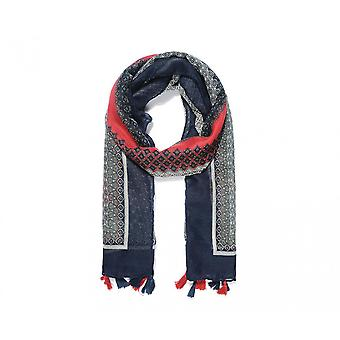 Intrigue Womens/Ladies Border Tassel Scarf