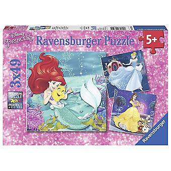 Ravensburger Disney-Prinzessin, Prinzessin Abenteuer 3x 49pc Jigsaw Puzzles