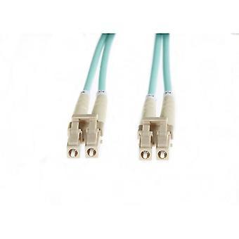 Aqua Lc-Lc Om3 Multimode Fibre Optic Cable