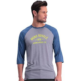 Mons Royale Oily Blue-Grey Vapour Lite MTB Jersey ¾ Sleeved