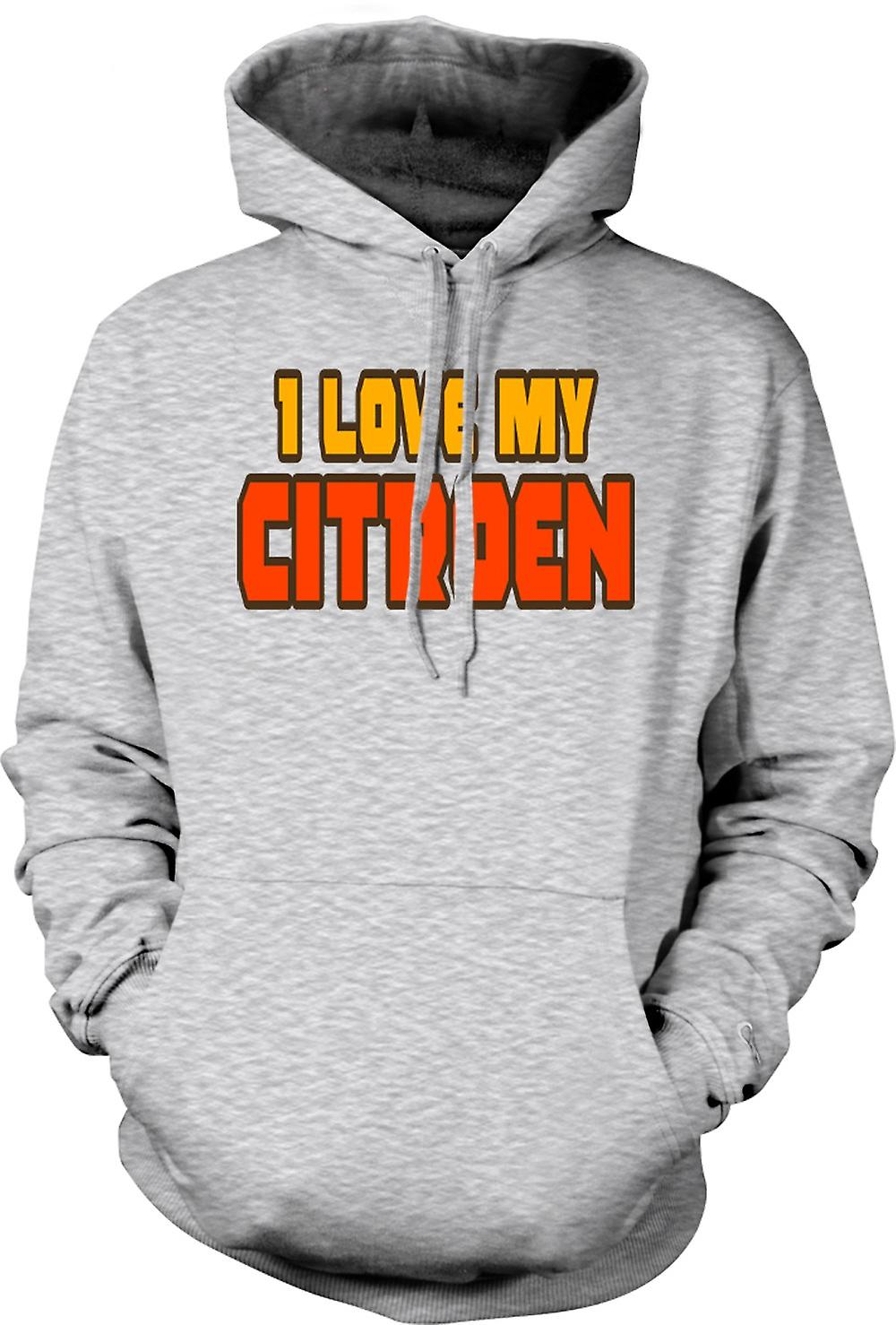 Mens Hoodie - I love my Citroen - Car Enthusiast