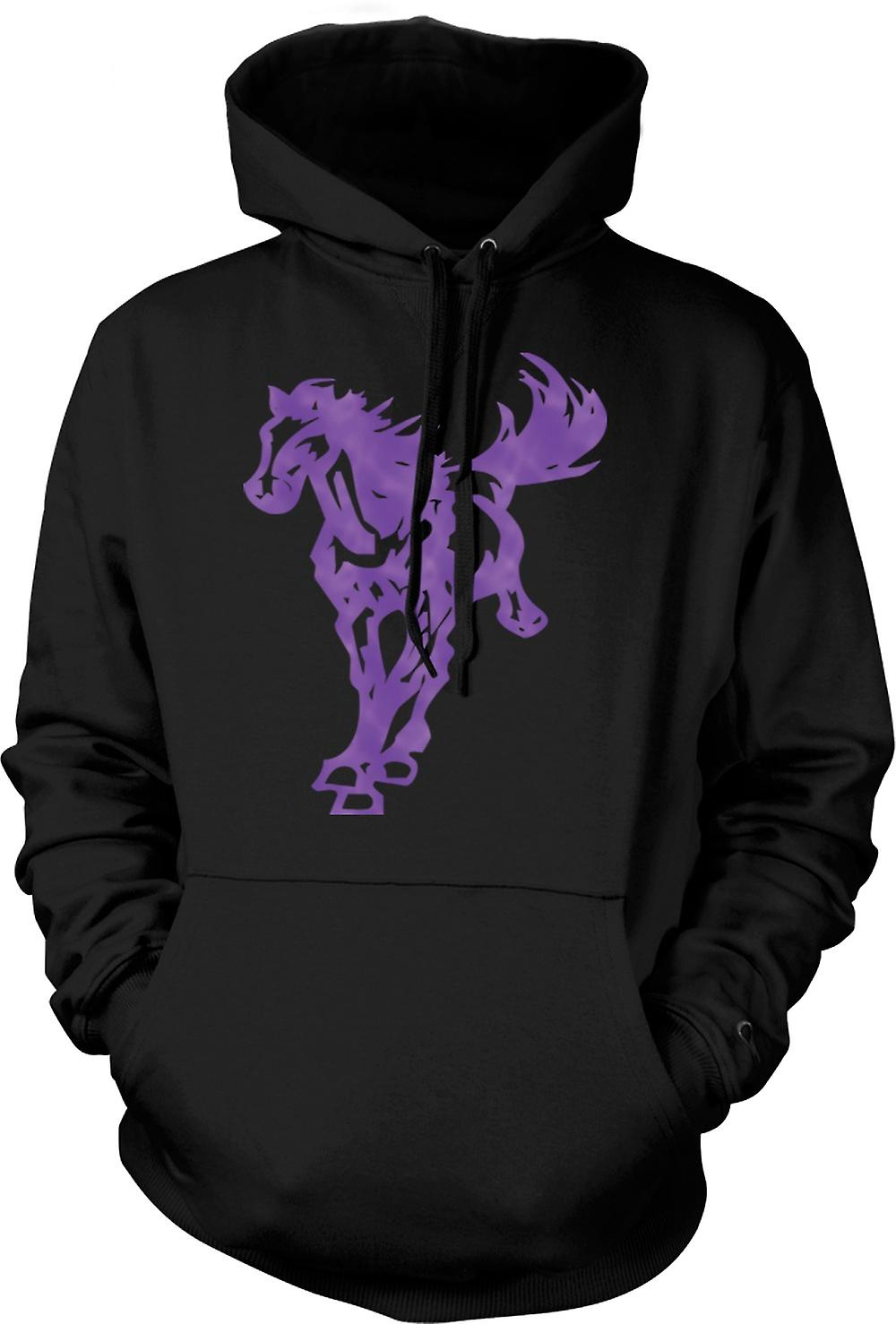 Mens Hoodie - Horse Galloping - Cool