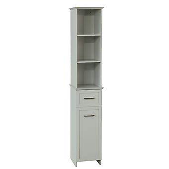 SoBuy Tall Bathroom Storage Cabinet with 3 Shelves 1 Drawer 1 Cabinet?BZR09-HG
