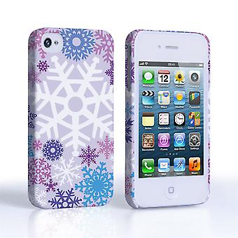 Caseflex iPhone 4 4S Winter Christmas Snowflake Cover – Purple