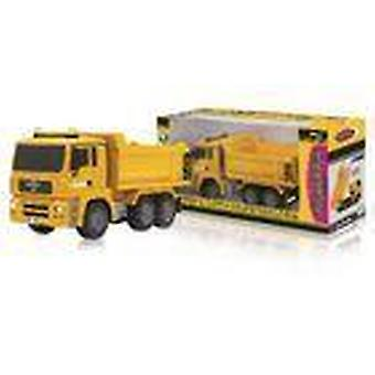 Jamara R/C Dump Truck MAN 3+4 Channel RTR / Sound / With Lights / 4WD 2.4 GHz Control 1:20 Yellow