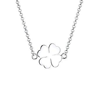 Women's necklace in Silver 925 with A lucky quadrileaf pendant