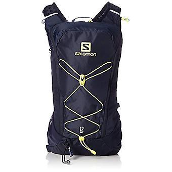 Salomon L40412600 - Light Running Backpack 12 l Agile 12 Adult Unisex Set - Dark Blue/Yellow (Night Sky/Sulphur Spring)