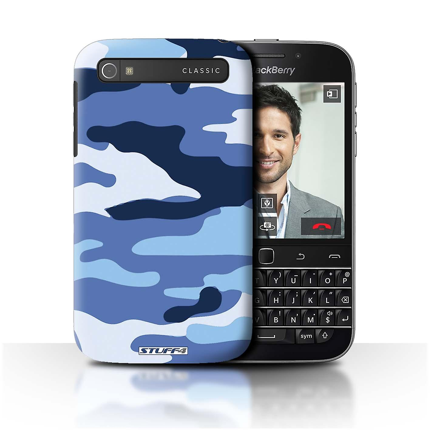 STUFF4 Case/Cover for Blackberry Classic/Q20/Blue 2/Camouflage Army Navy