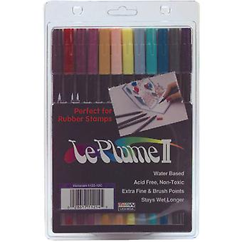 Leplume Ii Double Ended Markers 12 Pkg Victorian 1122 12 C