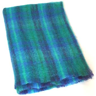 Mohair Blanket - Blue & Turquoise Check