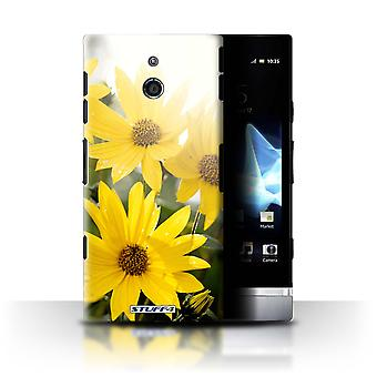 STUFF4 Case/Cover for Sony Xperia P/LT22i/Sunflower/British Countryside