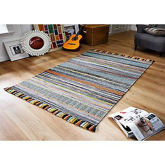 Kelim STRIPES à CHARBON Rectangle tapis tapis modernes
