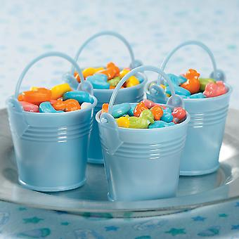 Party Favors 12/Pkg-Blue Baby Buckets 5538B