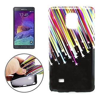 Protective case pouch pouches TPU for mobile Samsung Galaxy touch 4 SM-N910F stars & stripes