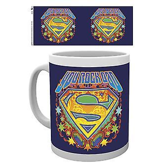 Día de las padres Superman robarle Rock papá taza