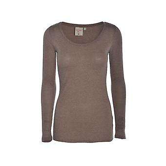 Women's Lightweight Taupe Long Sleeve Top TP556-12