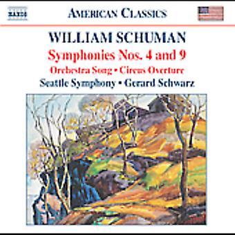 W. Schuman - William Schuman: Symhponies nr. 4 & 9; Orkestret sang; Cirkus Overture [CD] USA importerer
