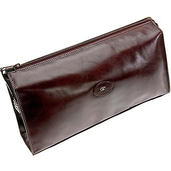 Hans Kniebes Mens Large Toiletry Leather Bag