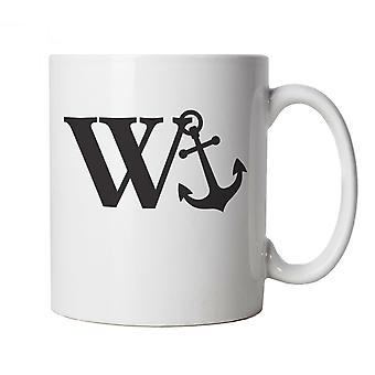 Vectorbomb, W Anchor, Funny Offensive Novelty Gift Mug