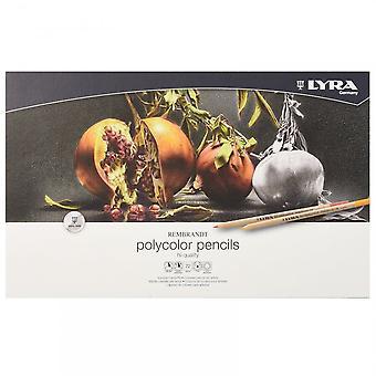Lyra Rembrandt Polycolor kunstner blyanter 72 Metal Tin