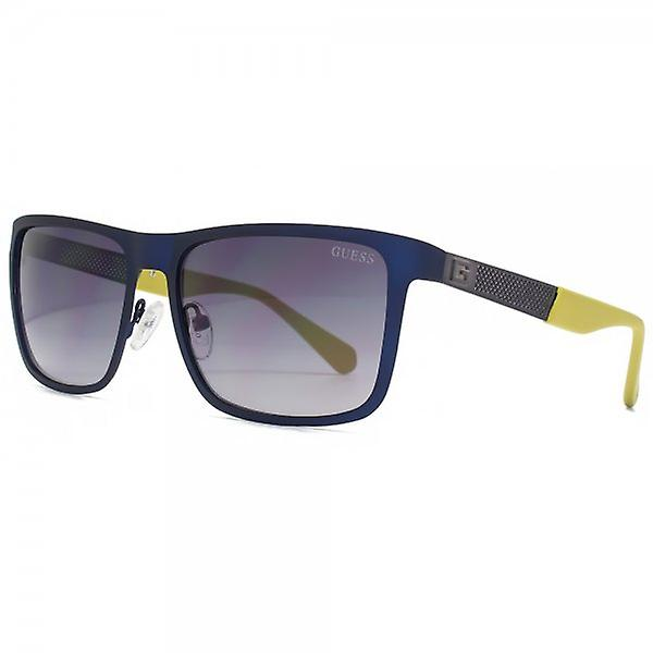 Guess Metal Square Sunglasses In Matte Blue