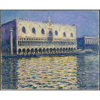 Claude Monet - The Doges Palace Poster Print Giclee