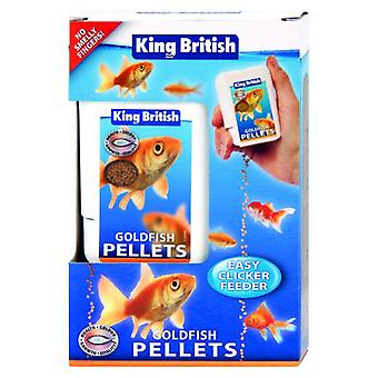 King British Goldfish Easy Clicker Feeder (Peces , Comida , Agua fría)